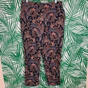 NWT Pendleton womens paisley pants sz 8